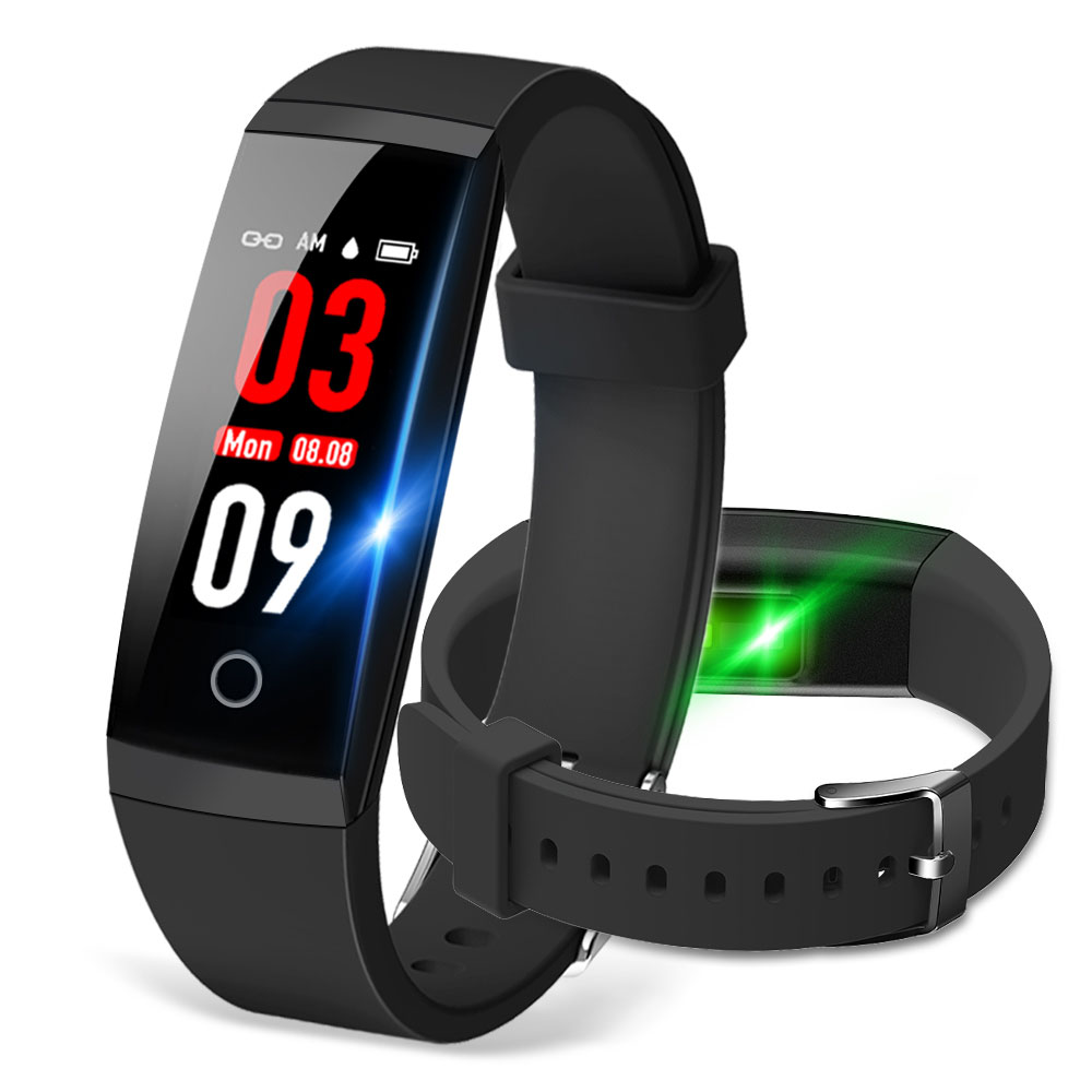e66a737389 スマートウォッチ 血圧計 心拍計 歩数計 itDEAL スマートブレスレット IP67防水 睡眠検測 着信電話通 長座注意 活動量計